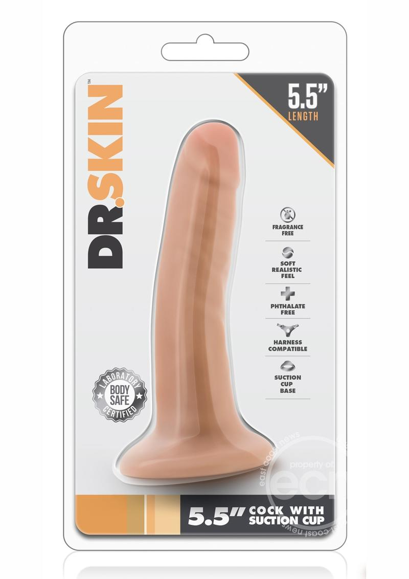 Dr. Skin Cock Dildo with Suction Cup 5.5in