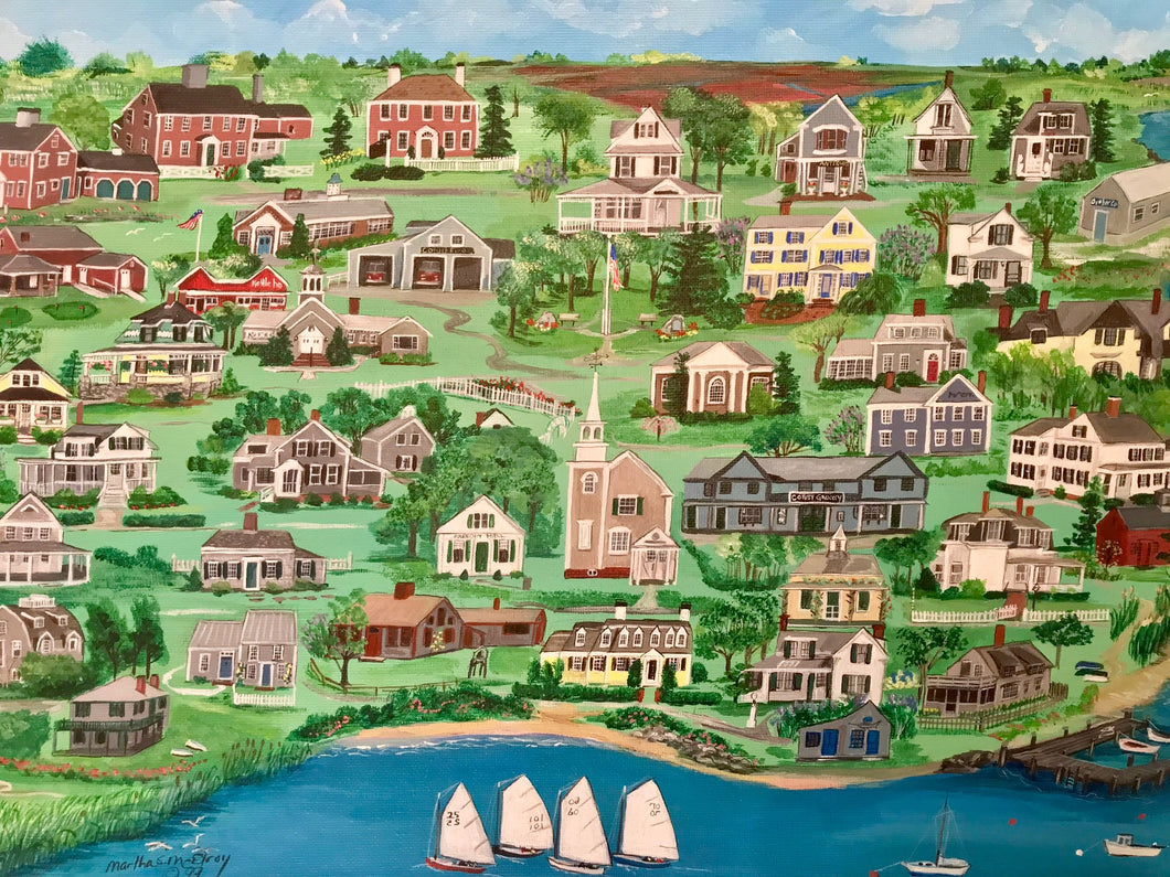 """Cotuit, Massachusetts"" - Limited Edition Print, Signed & Numbered. Solasta Studios Exclusive Collection of Artists Martha & Jon McElroy."