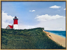 "Load image into Gallery viewer, ""Nauset Light, Cape Cod"" - Limited Edition Print, Signed & Numbered. Solasta Studios Exclusive Collection of Artists Martha & Jon McElroy."