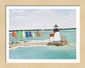 """Brant Point Light, Nantucket"" - Limited Edition Print, Signed & Numbered. Solasta Studios Exclusive Collection of Artists Martha & Jon McElroy."