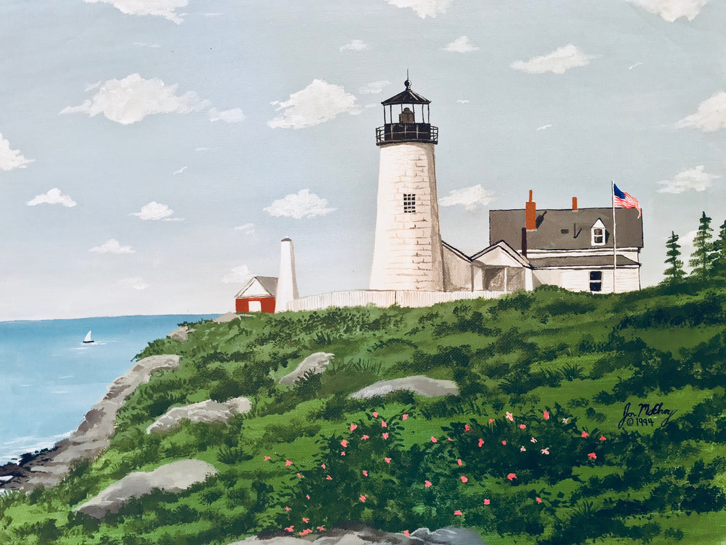 """Pemaquid Point Light, Maine"" - Limited Edition Print, Signed & Numbered. Solasta Studios Exclusive Collection of Artists Martha & Jon McElroy."