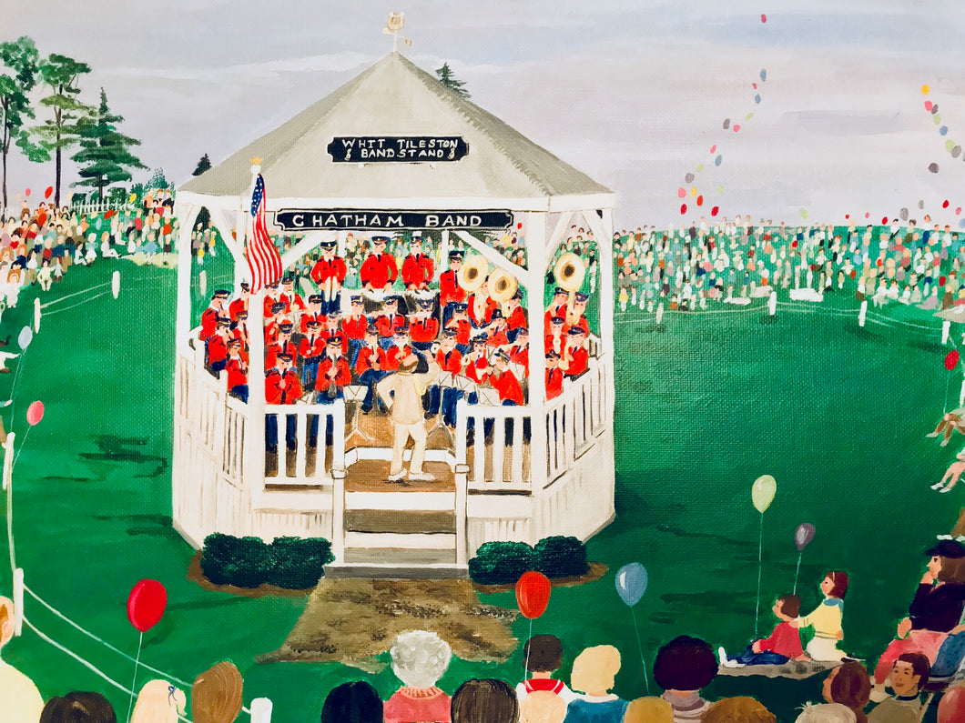"""Chatham Bandstand, Cape Cod"" - Limited Edition Print, Signed & Numbered. Solasta Studios Exclusive Collection of Artists Martha & Jon McElroy."