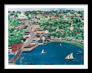 """Mystic, Connecticut"" - Limited Edition Print, Signed & Numbered. Solasta Studios Exclusive Collection of Artists Martha & Jon McElroy."