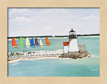 "Load image into Gallery viewer, ""Brant Point Light, Nantucket"" - Limited Edition Print, Signed & Numbered. Solasta Studios Exclusive Collection of Artists Martha & Jon McElroy."