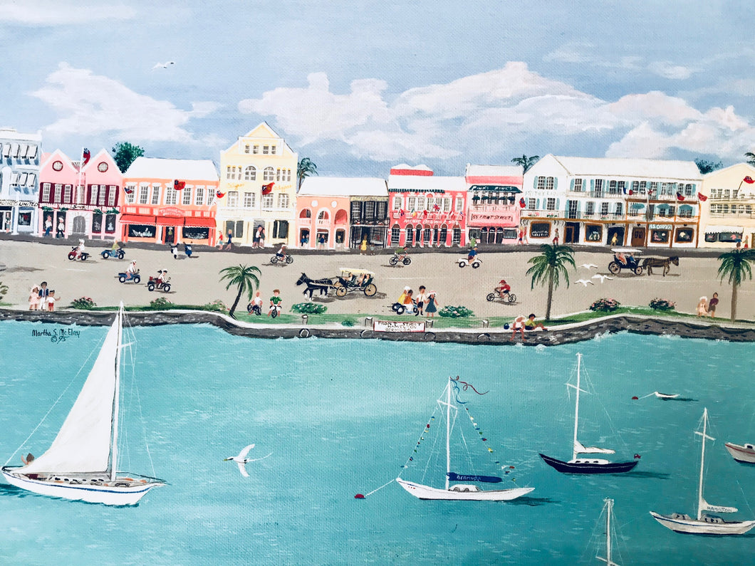 """Front Street, Bermuda"" - Limited Edition Print, Signed & Numbered. Solasta Studios Exclusive Collection of Artists Martha & Jon McElroy."