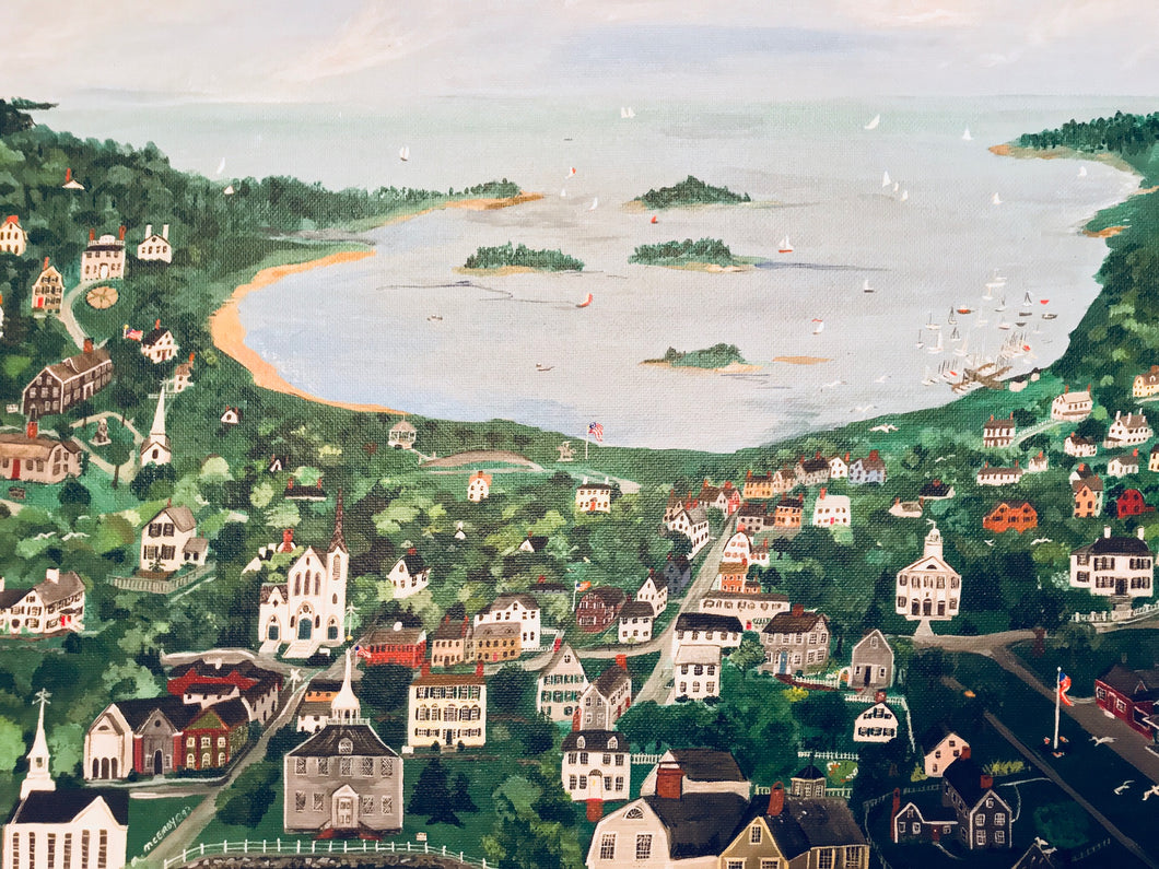 """Hingham, Massachusetts"" - Limited Edition Print, Signed & Numbered. Solasta Studios Exclusive Collection of Artists Martha & Jon McElroy."
