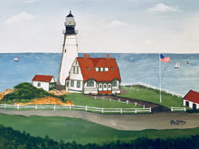 "Load image into Gallery viewer, ""Portland Head Light, Maine"" - Limited Edition Print, Signed & Numbered. Solasta Studios Exclusive Collection of Artists Martha & Jon McElroy."