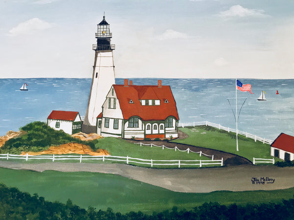 """Portland Head Light, Maine"" - Limited Edition Print, Signed & Numbered. Solasta Studios Exclusive Collection of Artists Martha & Jon McElroy."