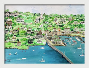 """Padanaram, Massachusetts"" - Limited Edition Print, Signed & Numbered. Solasta Studios Exclusive Collection of Artists Martha & Jon McElroy."