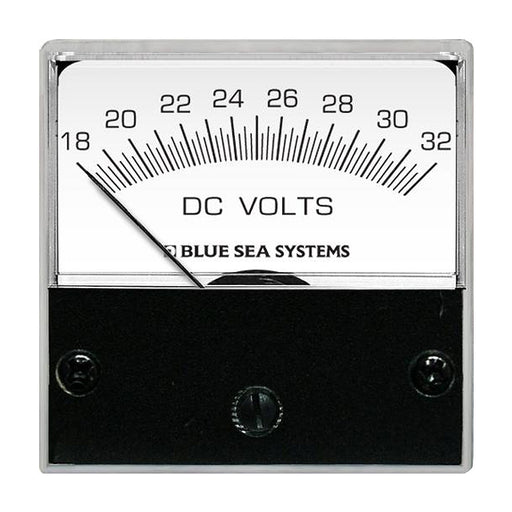 "Blue Sea 8243 DC Analog Micro Voltmeter - 2"" Face, 18-32 Volts DC [8243]"