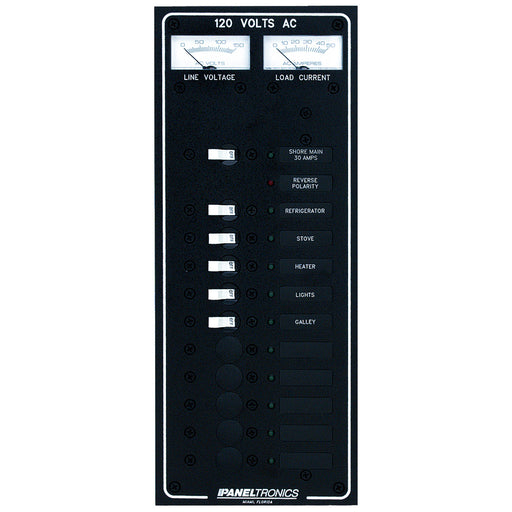 Paneltronics Standard AC 10 Position Breaker Panel & Main w-LED [9972320B]