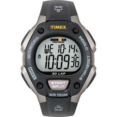 Timex Ironman Triathlon 30 Lap Grey-Black [T5E901]