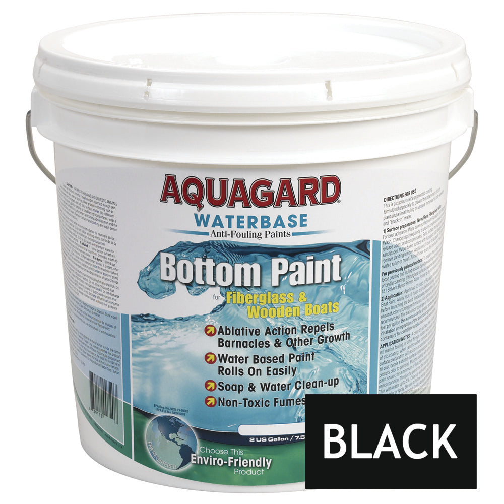 Aquagard Waterbased Anti-Fouling Bottom Paint - 2Gal - Black [10201]