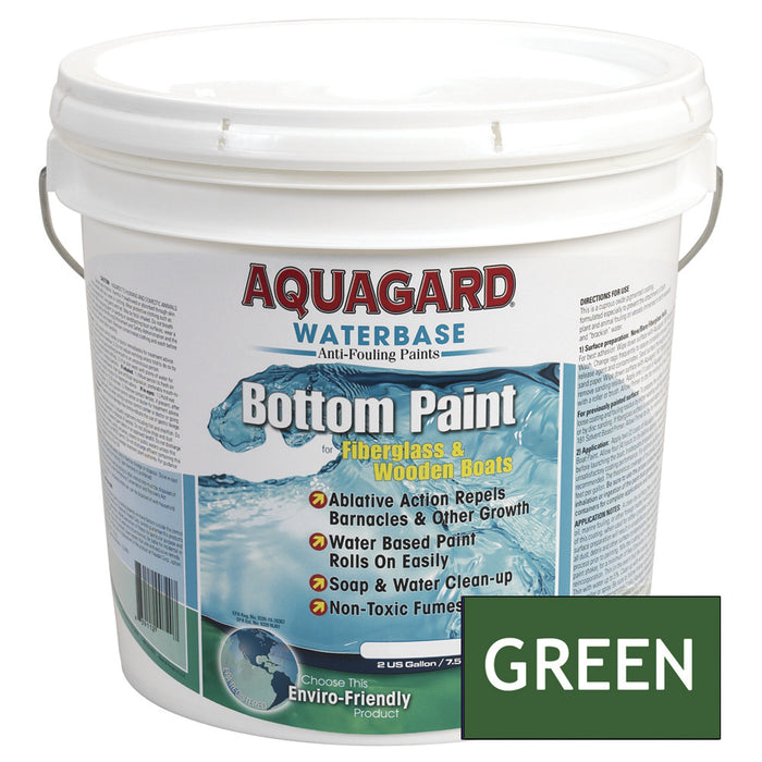 Aquagard Waterbased Anti-Fouling Bottom Paint - 2Gal - Green [10204]