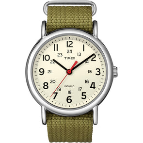 Timex Weekender Slip-Thru Watch - Olive Green [T2N651]