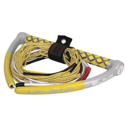 AIRHEAD Bling Spectra Wakeboard Rope - 75' 5-Section - Yellow [AHWR-12BL]