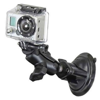RAM Mount GoPro Hero Short Arm Suction Cup Mount [RAM-B-166-A-GOP1U]