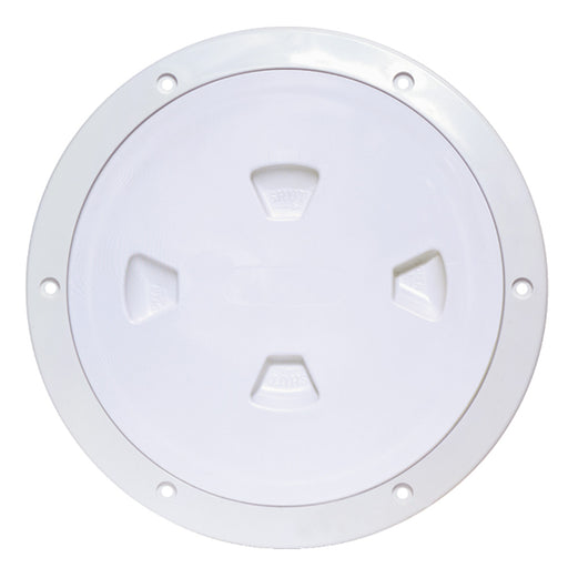"Beckson 8"" Smooth Center Screw-Out Deck Plate - White [DP80-W]"
