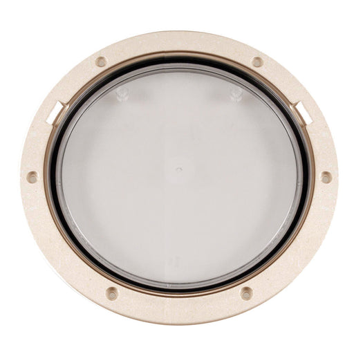 "Beckson 8"" Clear Center Pry-Out Deck Plate - Beige [DP81-N-C]"