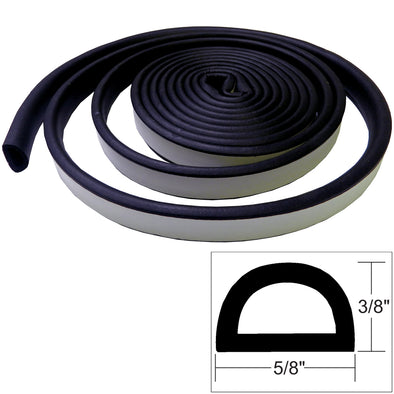 "TACO Weather Seal - 10'L x 3-8""H x ""W - Black [V30-0109B10-1]"