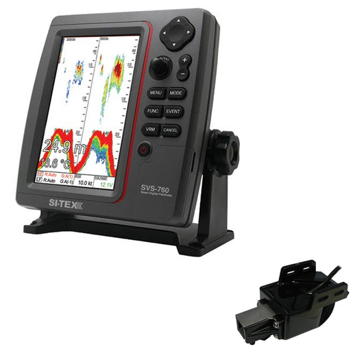 SI-TEX SVS-760 Dual Frequency Sounder 600W Kit w-Transom Mount Triducer [SVS-760TM]