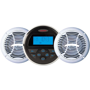 JENSEN CPM150 AM-FM-USB Bluetooth Stereo  Speakers Package w-MS3A  AMS602W Speakers [CPM150]