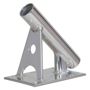 "Lee's MX Pro Series Fixed Angle Center Rigger Holder - 45 Degree - 1.5"" ID - Bright Silver [MX7003CR]"