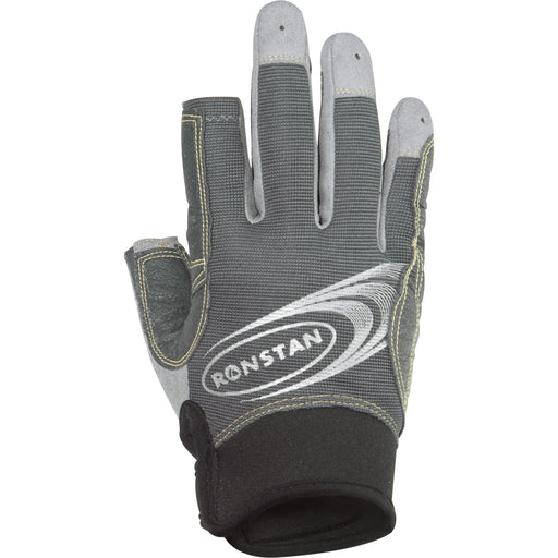 Ronstan Sticky Race Gloves w-3 Full & 2 Cut Fingers - Grey - X-Large [RF4881XL]