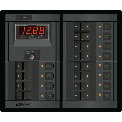 Blue Sea 1217 12V DC 12 Position w-Digital Meter [1217]
