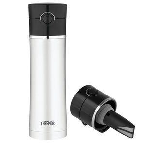 Thermos Stainless Steel, Vacuum Insulated Drink Bottle w-Tea Infuser - 16 oz. [NS403BK4]