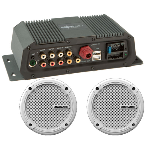 "Lowrance Sonichub Marine Audio Server w-6.5"" Speakers [000-12301-001]"