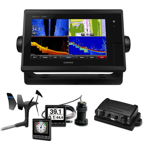 Garmin GPSMAP 7608 Sail Plus Pack w-Wind, Depth & Speed Bundle w-GNX20 [010-01305-11SPP]