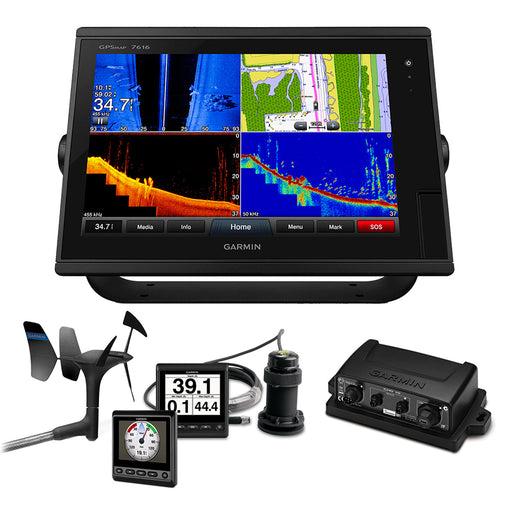 Garmin GPSMAP 7616 Sail Plus Pack w-Wind, Depth & Speed Bundle w-GNX20 [010-01402-11SPP]