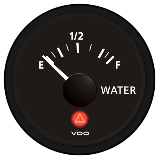 VDO Viewline Onyx Freshwater Gauge 12-24V - Use with VDO 10-180 Ohm Sender [A2C53418137-S]