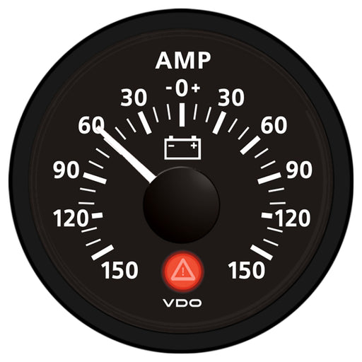 VDO Viewline Onyx 150A Ammeter 12-24V - Requires External 60mv Shunt [A2C53210957-S]