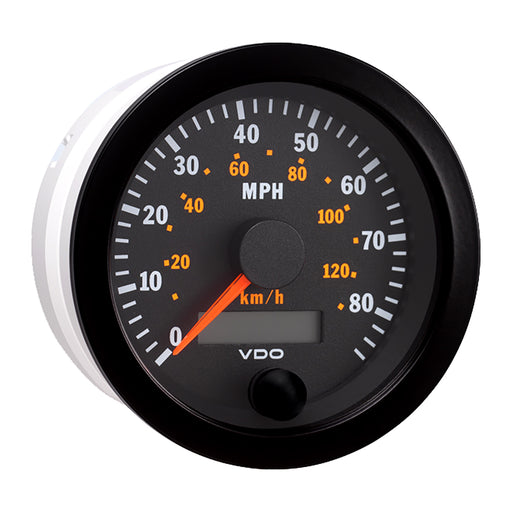 "VDO Vision Black 85MPH-130kmh 3-3-8"" Electronic Speedometer w-Autocalibration - 12V [437-152]"