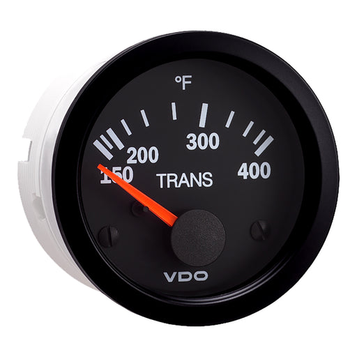 VDO Vision Black 400 DegreeF Transmission Temperature Gauge - Use with VDO  Sender - 12V [310-107]