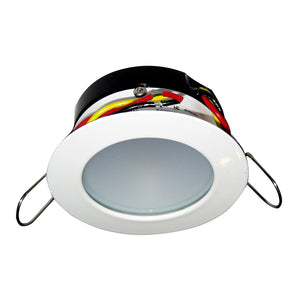 i2Systems Apeiron Pro A503 Tri-Color 3W Round Dimming Light - Warm White-Red-Blue - White Finish [A503-31CBBR-HE]