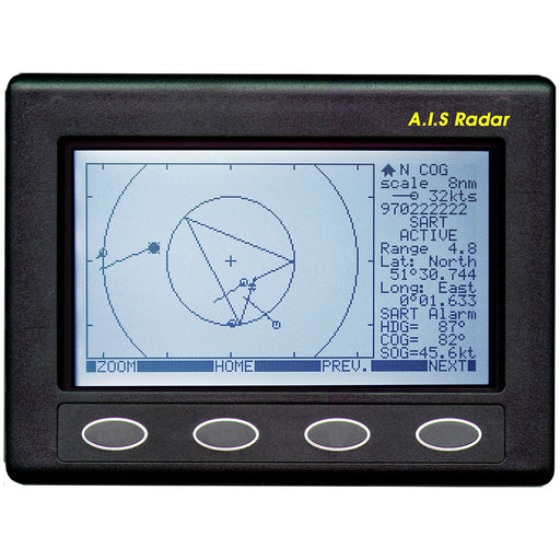 Clipper AIS Plotter-Radar - Requires GPS Input  VHF Antenna [CLIP-AIS]