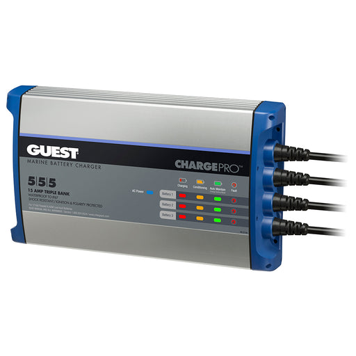 Guest On-Board Battery Charger 15A - 12V - 3 Bank - 120V Input [2713A]