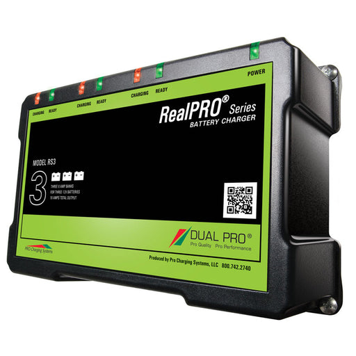 Dual Pro RealPRO Series Battery Charger - 18A - 3-6A-Banks - 12V-36V [RS3]