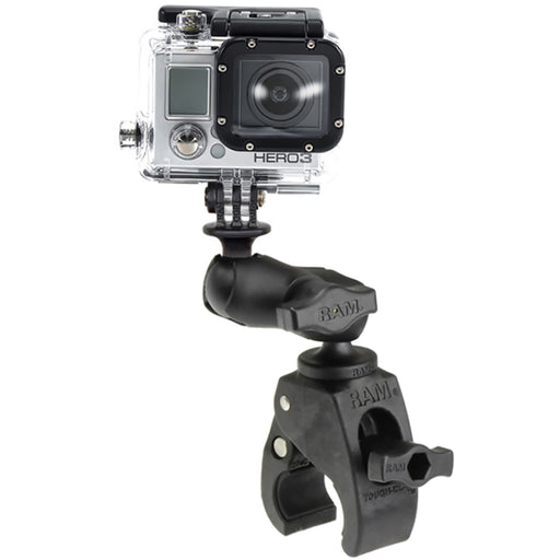 RAM Mount Small Tough-Claw Base w-Short Double Socket Arm  GoPro-Action Camera Mount [RAM-B-400-A-GOP1U]