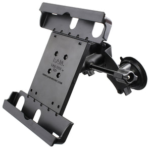 RAM Mount Dual Suction Cup Mount w-Retention Knob  Large Tab-Tite Universal Tablet Holder [RAM-B-189-TAB20-ALA1-KRU]