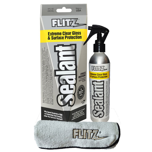 Flitz Sealant Spray Bottle w-Microfiber Polishing Cloth - 236ml-8oz *Case of 6* [CS 02908CASE]