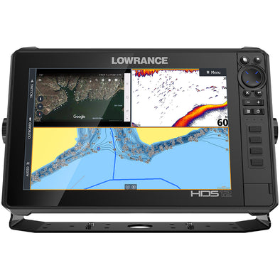 Lowrance HDS-12 LIVE w-Active Imaging 3-in-1 Transom Mount  C-MAP Pro Chart [000-14428-001]