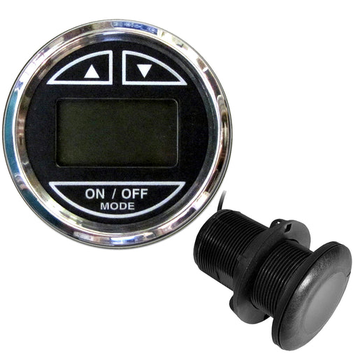 "Faria 2"" Depth Sounder w-Thru-Hull Transducer - Chesapeake Black - Stainless Steel Bezel [13795]"
