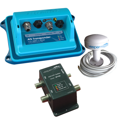 Vesper XB-8000 Class B AIS SP160 Bundle - SP-160 Amplified Splitter, External Alarm  Stainless Cancel Switch Included [XB8000B1]