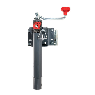 "Bulldog Bolt-On Jack, Topwind, 10"" Travel, Bolt-On Swivel Bracket, - 2,000 lbs. Lift Capacity [151443]"