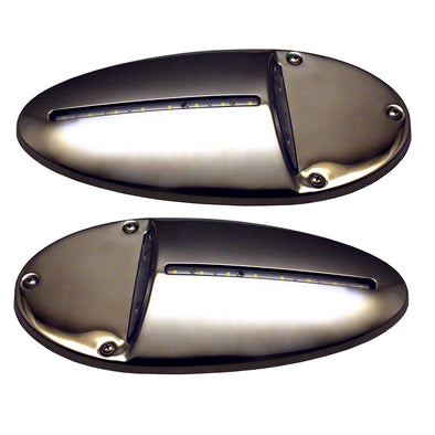 Innovative Lighting LED Docking Light- Mirrored Stainless Steel - Pair [585-0220-7]