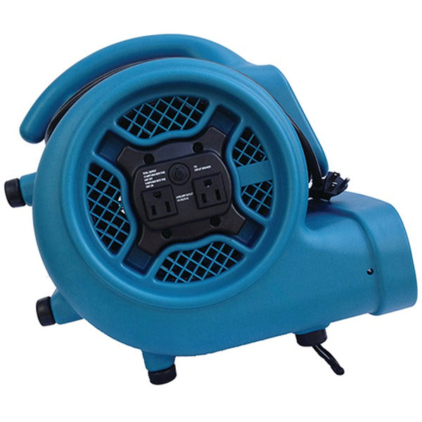 XPOWER X-400A X-400A 1,600cfm 3-Speed Commercial Air Mover-Carpet Dryer-Floor Blower Fan with Dual Outlets for Daisy Chain